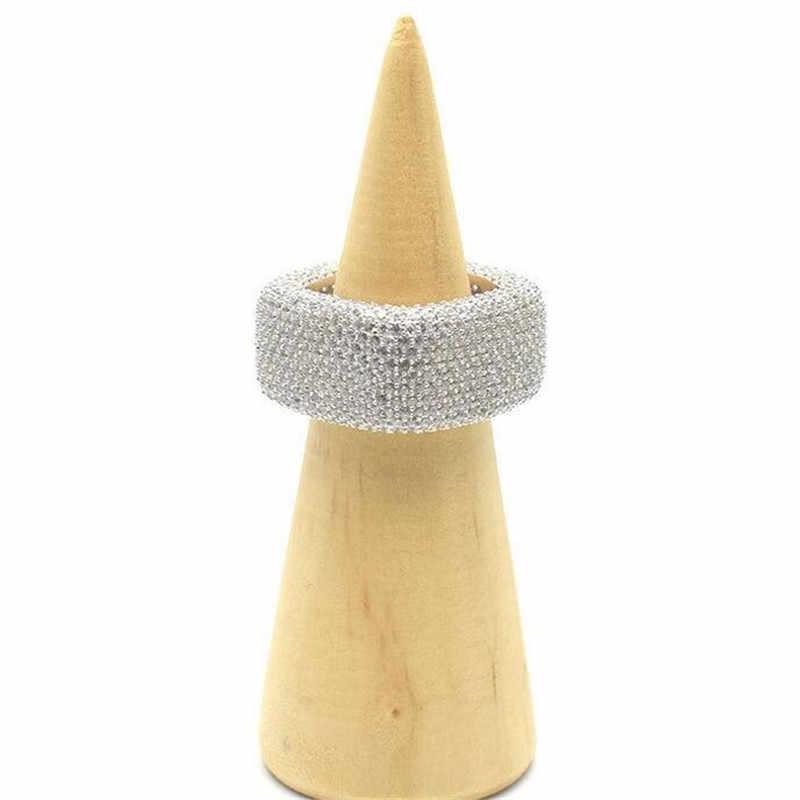 Vecalon bague de promesse de luxe 925 en argent sterling Micro pavé 450 pièces Zircon Cz bagues de fiançailles pour femmes hommes bijoux