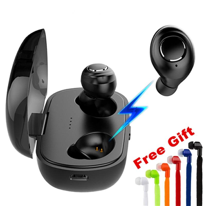 TWS Bluetooth 5.0 In-Ear Wireless Mini Bluetooth Earphone Headphone Waterproof Sports Smart Connection Headset With Charging Box