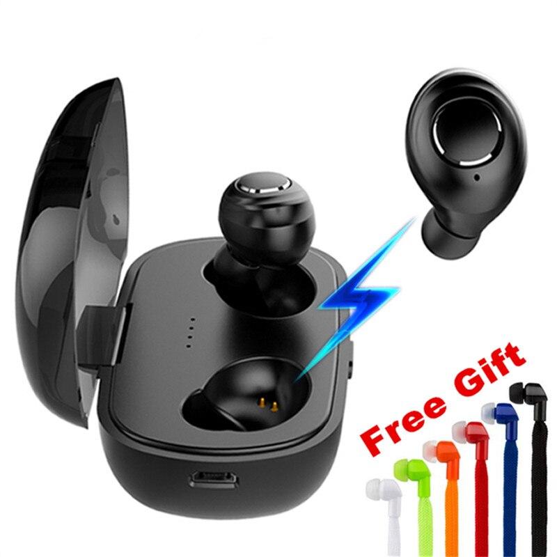 TWS Bluetooth 5,0 In-ohr Drahtlose Mini Bluetooth Kopfhörer Kopfhörer Wasserdichte Sport Smart Connection Headset Mit Lade Box