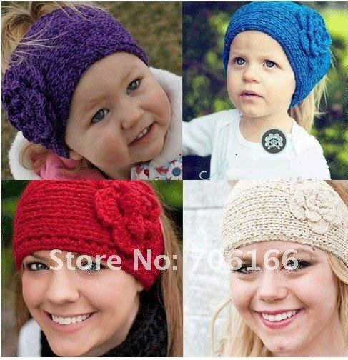 women headband/ hot sale Handmade knitted hairband /Flower headwrap,20PCS sell  /MIXED +CPAM Free Shipping