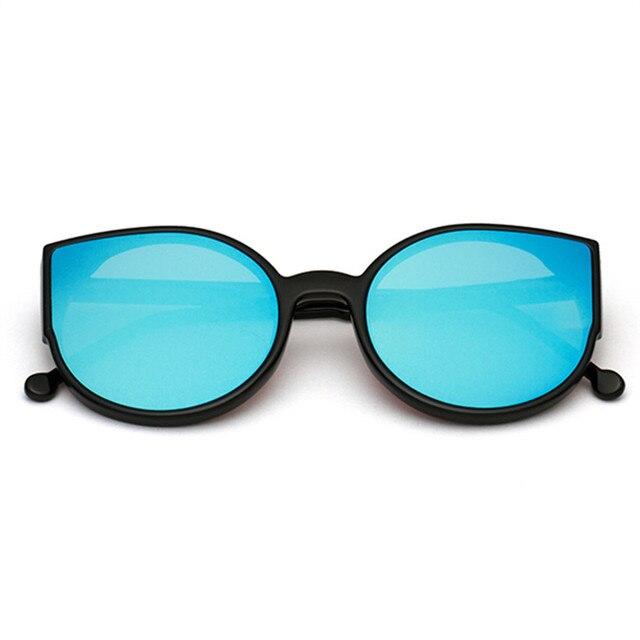 NYWOOH Cat Eye Sunglasses Mirror Coating Reflective Sun Glasses Big Black  Frame Eyewear Shades for Women c4b0a1d47