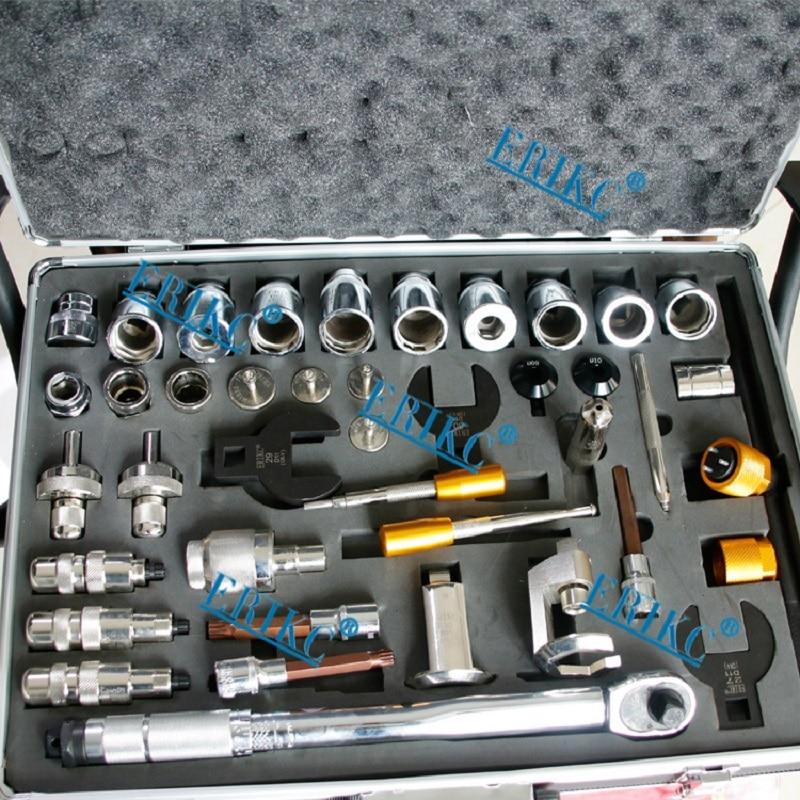 ERIKC Лидер продаж инжектор ремонт инструмента Наборы инжектора дизельного топлива инструмент для демонтажа всего 40 шт.