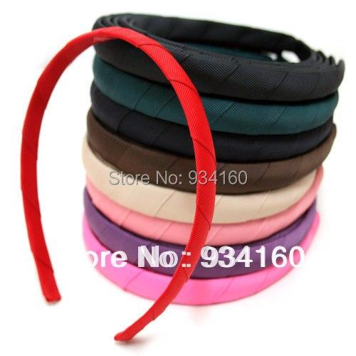 """30 יח'\חבילה 15 מ""""מ (5/8 '') diy פלסטיק בגימור לבוש ראש כיסוי ראש סרט המשי עבה בשורה"""