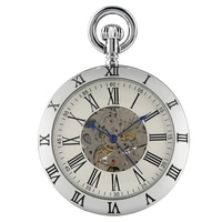 Special Automatic Mechanical Pocket Watch Antique Hollow Out Fob Watches Men Classic Round Snake Chain Pendant Clock Gift