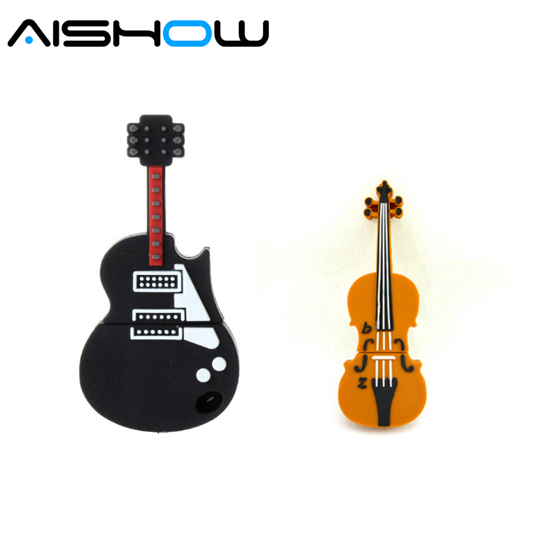 Genuine pen drive violin musical instrument USB Flash Drive memory stick pendrive 4GB 8GB 16GB 32GB 64GB 512 guitar usb stick