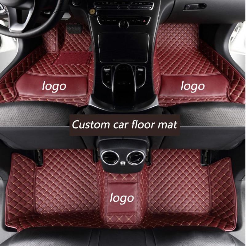 Kalaisike Custom tapetes do carro para a Porsche Todos Os Modelos Cayenne Panamera Macan Boxster Cayman 718 car styling acessórios
