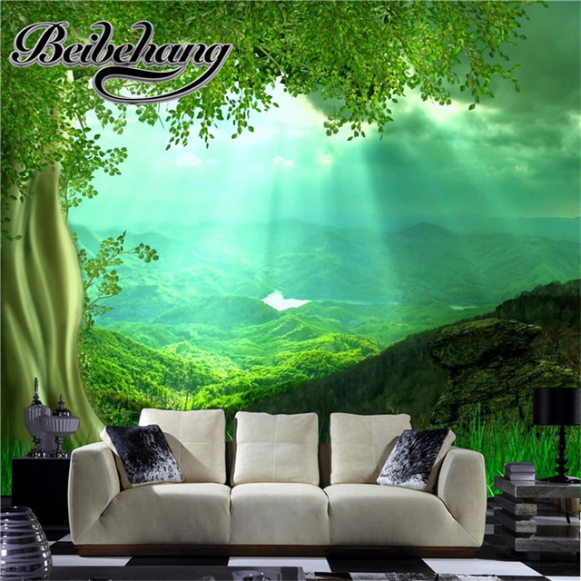 Beibehang high fashion 3d natural wall art set living room decoration murals wallpaper 3 d papel