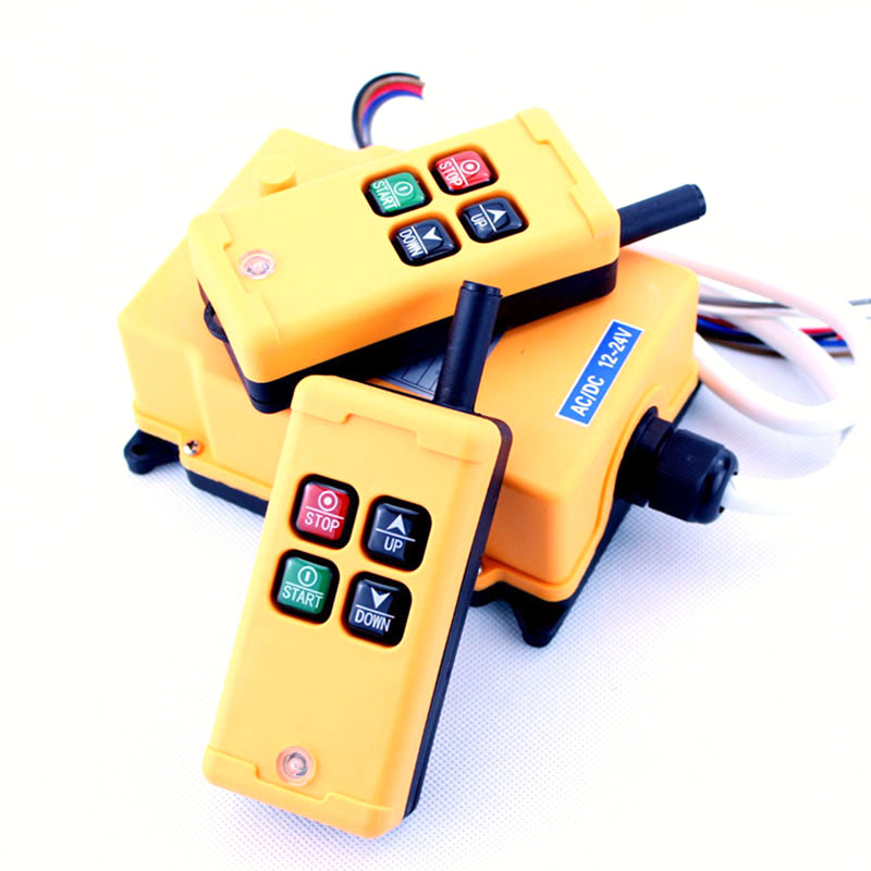 все цены на HS-4 Industrial Remote Control Switch 4 keys 1 receiver+ 2 transmitter DC 24V 24VDC онлайн