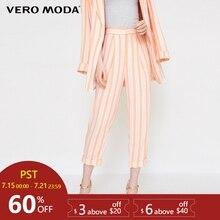 Vero Moda Striped Carrot-shaped Casual Capri Pants | 31826J5