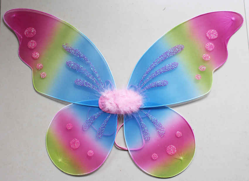 d722f11db Detail Feedback Questions about Kids Teens Adults Rainbow Glitter Butterfly  Fairy Wings Party Costume on Aliexpress.com | alibaba group