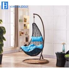 Современный стиль сад PE ротанга качели стул открытый яйцо стул
