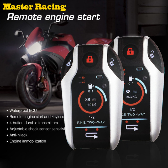Motorcycle Alarm Remote Control Engine Start Two 2 Way Auto Car Alarm System Anti-Theft Device Vibration Alarm Lock System