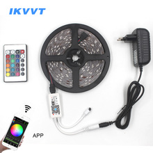 IKVVT 5050 RGB WIFI LED Strip light Waterproof 30LEDS/m RGB LED Ribbon Tape Diode Tira WIFI Wireless Controller 12V Power Supply все цены