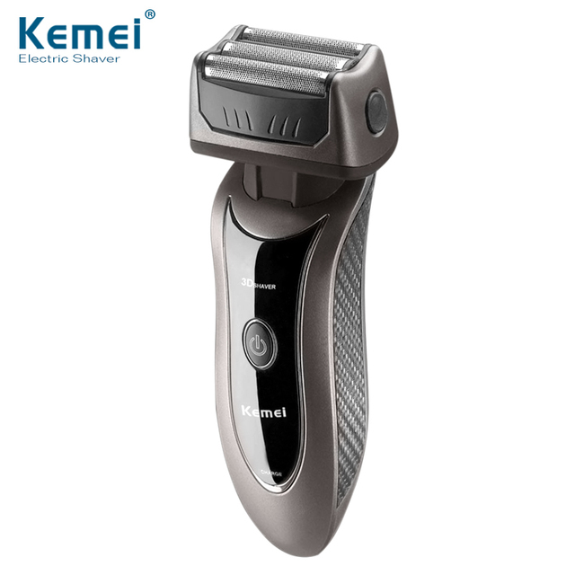 Kemei9001 3 Heads Electronic Rechargeable Shaver Triple Blade