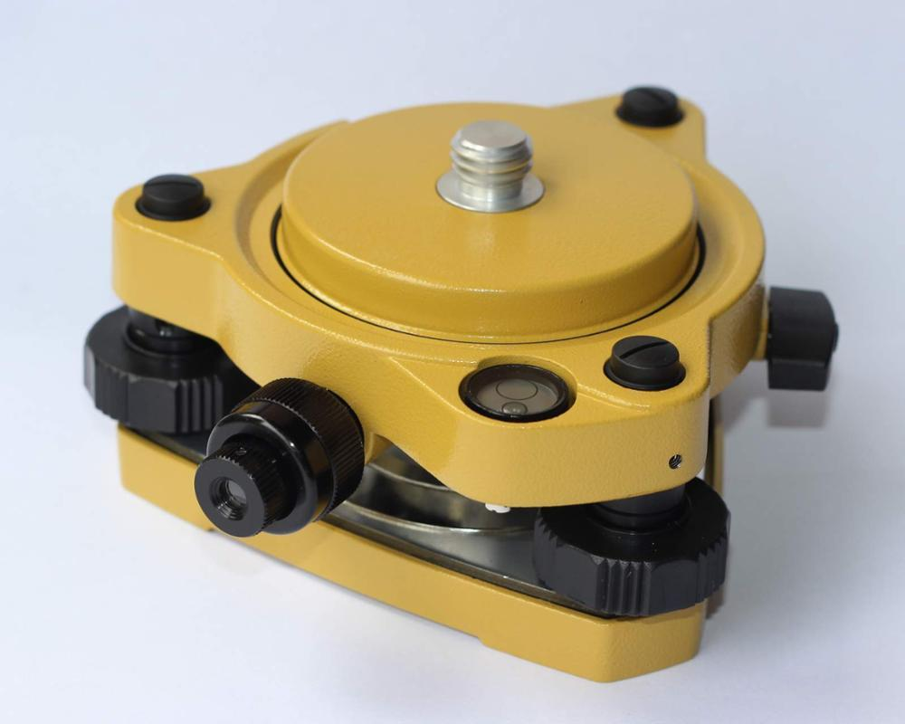 Jaune GPS Transporteur Fixe Adaptateur avec 5/8 rotation et Embase Avec plomb Optique