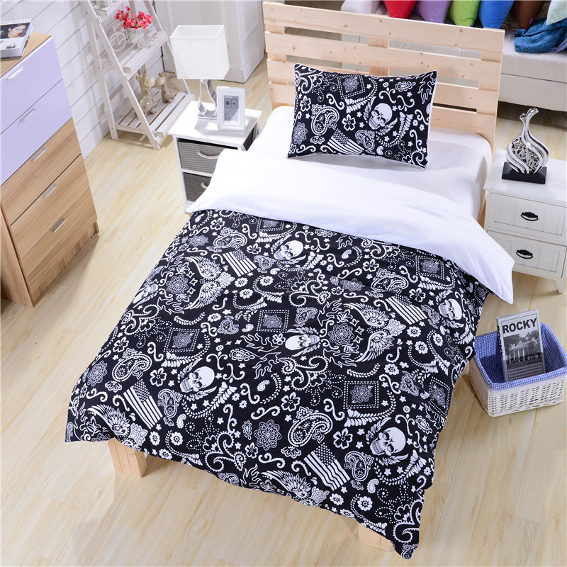 black and white bedding paisley american flag bedding skull bedding new hot duvet cover set twin full queenin bedding sets from home u0026 garden on