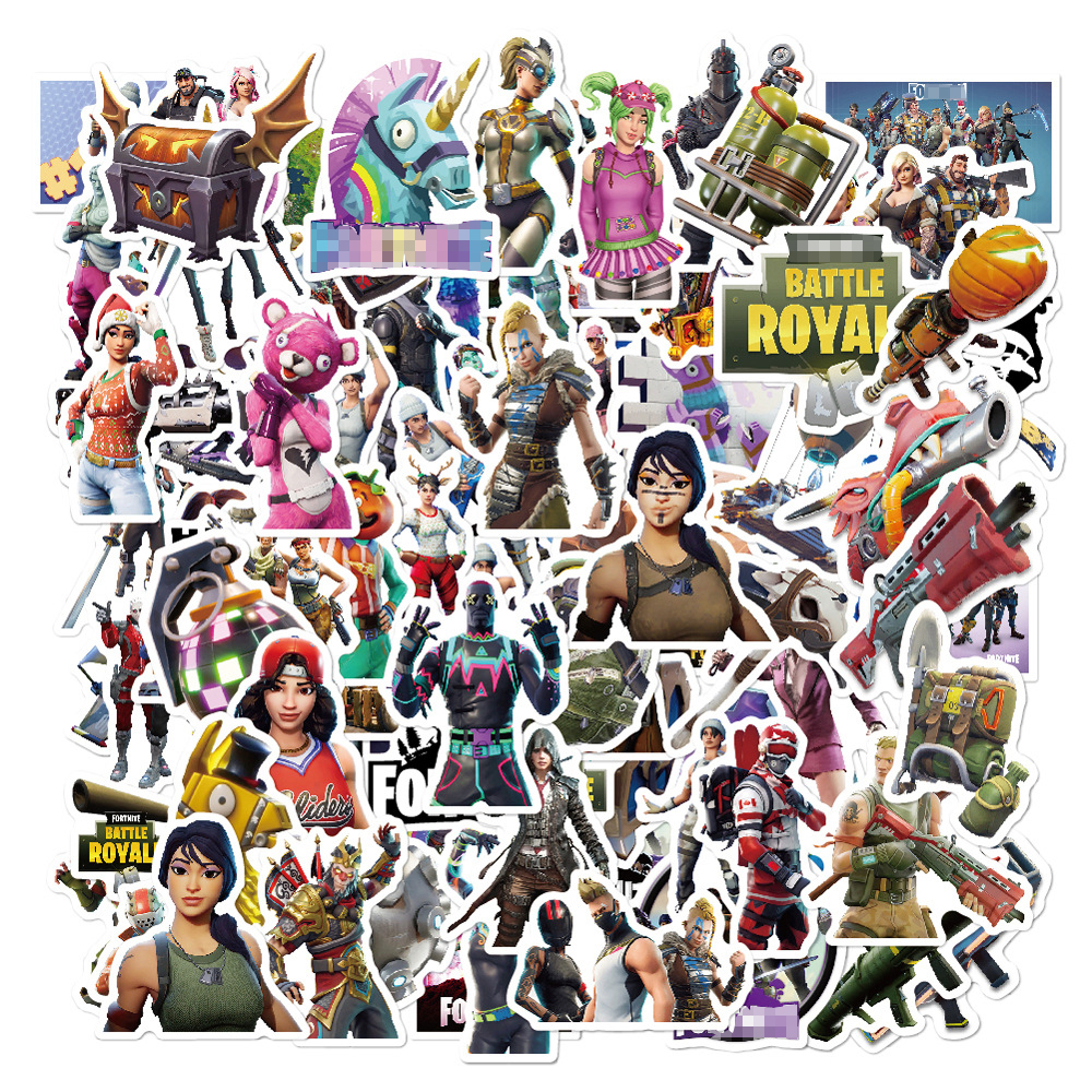 52 Pcs/Pack 104 Pattern Selection Fortnight Graffiti Stickers For Freezer  Suitcase Cool Laptop Sticker Skateboard Stickers52 Pcs/Pack 104 Pattern Selection Fortnight Graffiti Stickers For Freezer  Suitcase Cool Laptop Sticker Skateboard Stickers