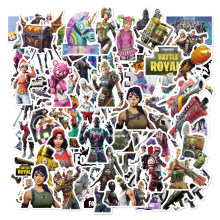 52 Pcs/Pack 104 Pattern Selection Fortnight Graffiti Stickers For Freezer Suitcase Cool Laptop Sticker Skateboard Stickers(China)