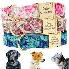 כלב תג צווארון אישית לחיות מחמד גור שלט צווארון מותאם אישית ניילון חקוק חתול כלב מזהה קולרים מתכוונן עבור בינוני גדול כלבים