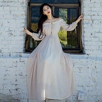 Maternity Pregnant Women Photography Props White Pink Beautiful Long Fairy Dress Princess Photo Shoot Baby shower Elegant photo shoot