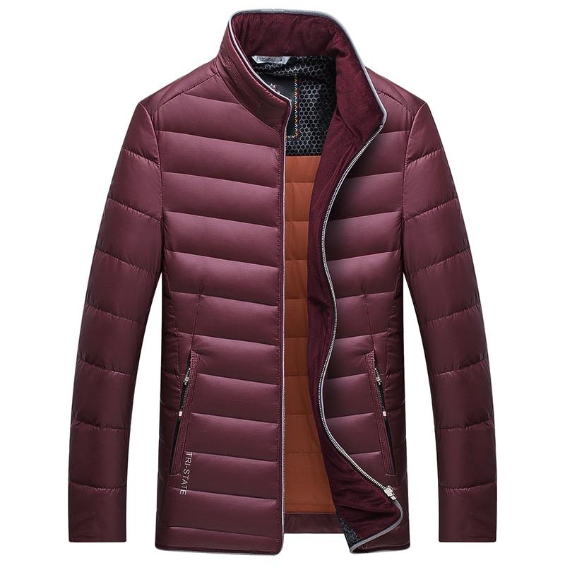 Thick Winter Coat Men Navy Blue Orange Burgundy Warm Jacket Men Thicken Stand Collar Coat Parka for Men Cashmere Jacket Mens