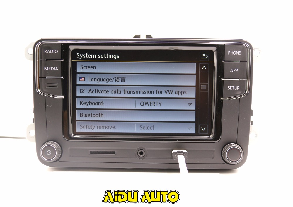 carplay noname rcd330 330g plus 6 5 mib radio app f r vw. Black Bedroom Furniture Sets. Home Design Ideas