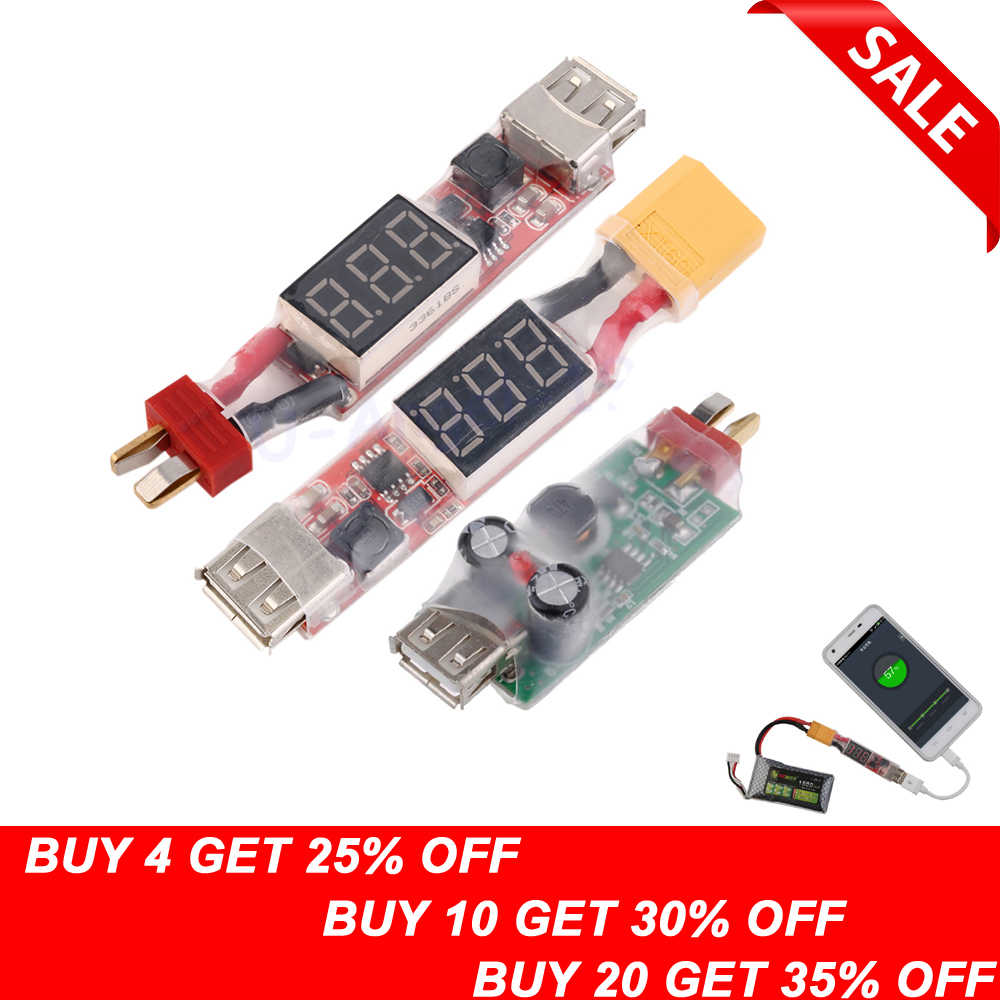 1pcs 2S-6S Lithium Battery Charger Converter T-Plug XT60 Plug With Voltage Display for iphone Ipad HTC