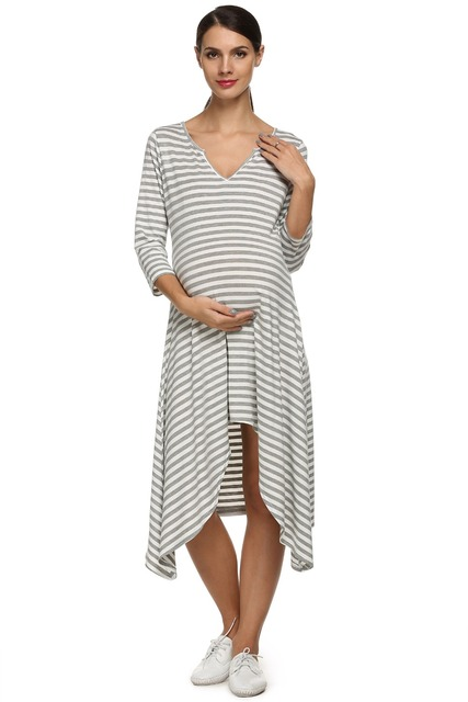 2017 New Summer Women's Maternity Dress O-Neck Casual Pregnant Dresses Maternity Clothes For Women 67
