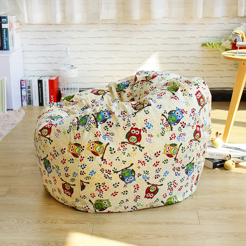 120x120CM Bean Bag Chair Garden Camping Beanbag covers Lazy Sofa London impression style Anywhere Portable Sitting