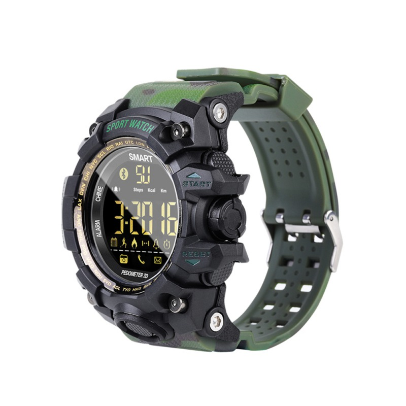 EX16S Waterproof Sports Smart Watch Camouflage Outdoor Bluetooth Remote Pedemeter Control Photo Long Standby Smartwatch