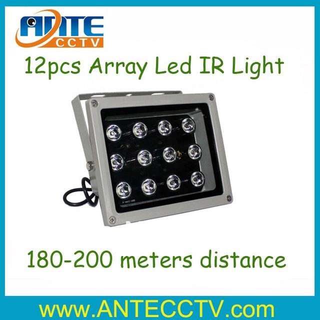 Free shipping Array LED Infrared Illuminator outdoor waterproof 12pcs leds Lamp for CCTV Camera