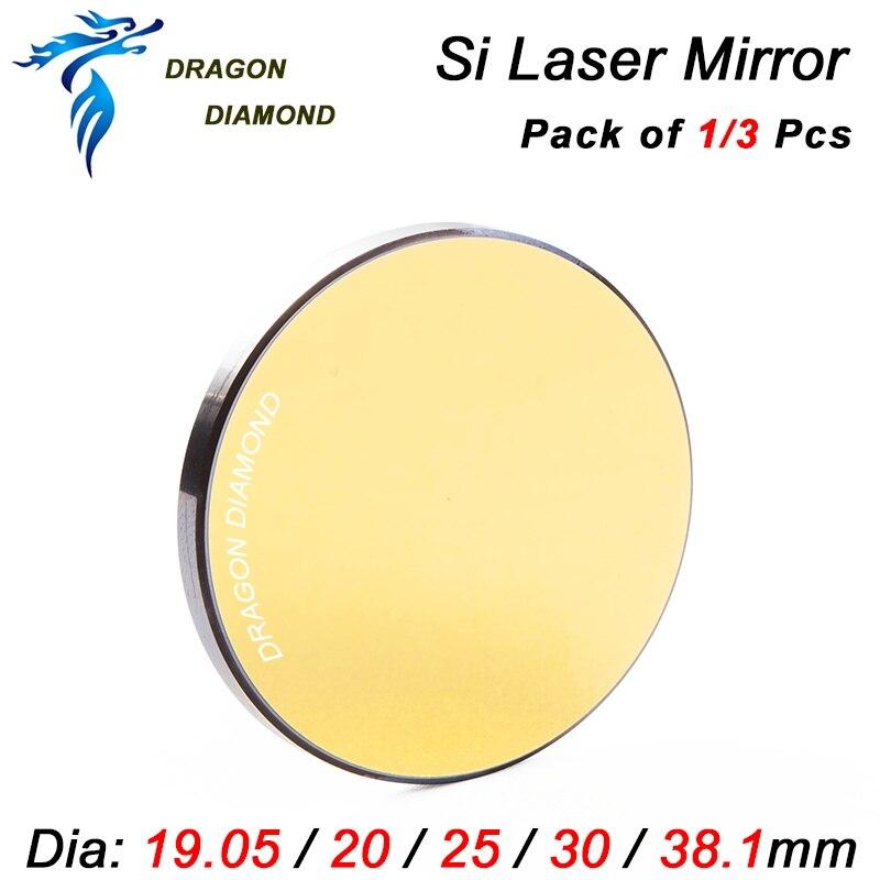 1 Stücke 3 Stücke Co2 Laser Schneiden Gravur Si Spiegel Durchmesser 19,05mm 20mm 25mm 30mm 38,1mm Laser Silicon Reflektierende Spiegel