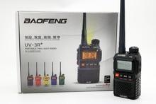 2 ШТ. Baofeng УФ-3R Плюс Два 2Way pадио Портативный Dual band UHF УКВ 99CH baofeng UV3R+ рации Мини рация VOX FM Фонарик