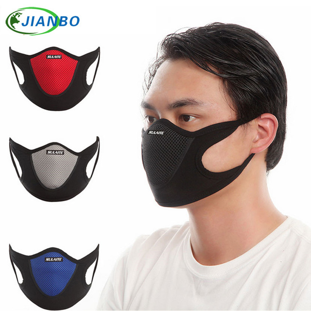 Anti Dust Mask Black Filter Outdoor Sports Anti pollution Gas Anti Pollution Mask Dust Respirator Bicycle Dust maskforface