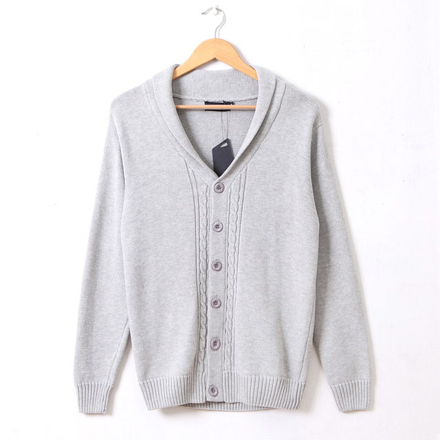 Cardigans Men Solid Sweaters Knitwear Long Sleeve V-neck Casual Cardigan Male Brand Clothing Fashion Slim Men Autumn Outwears