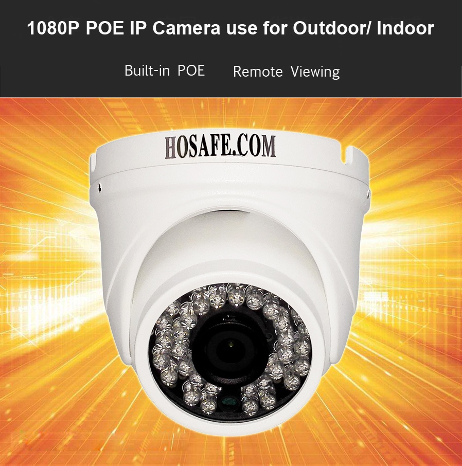 HOSAFE 2MD4P-36 2.0MP 1080P Waterproof IP Camera w/POE /36-ir-led / Motion Detection hosafe 2md4p 36 1080p poe waterproof outdoor dome ip camera w 36 ir led motion detection