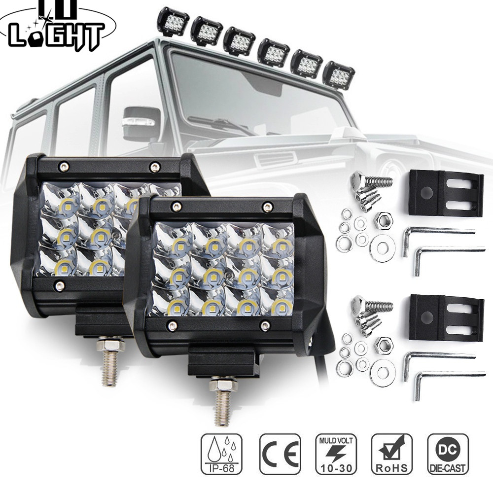 CO LIGHT Led Light Bar 72W 4 3-Row Work Light Led Bar for Tractor Boat Offroad 4WD 4x4 Truck SUV ATV 12V 24V Auto Driving Light 234w 78 high power cree led work light bar 35 inches led light bar for truck boat atv suv 4wd