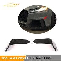 2pcs Fins For Audi TTRS 2Door Coupe Carbon Fiber Front Bumper Fins Body kits