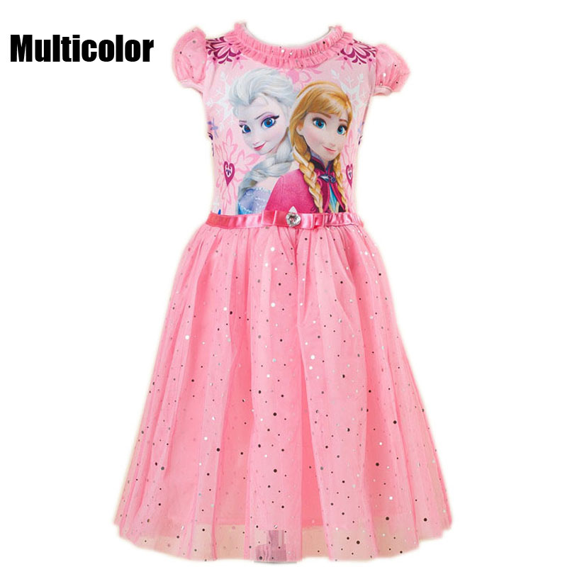 Multicolor Brand Costume Anna Elsa Dress For Baby Girl Wedding Princess Dresses Cosplay Kids Elza Princesss Vestidos Party Cloth elsa girls cloth dress anna girl s dresses princess dress party dress for baby kids queen infant costume party vestidos clothes