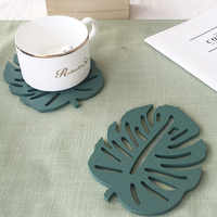 Bamboo design concrete tray silicone mold cement cup cushion mould water cup plaster cushion mould