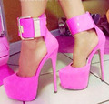 ZKshoes 2015 fashion women pink mary janes high heel thin heel platform party shoes big size  us 4---13