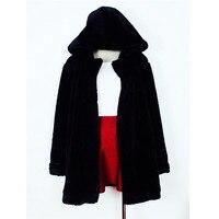 Daisy Na New Women Ladies Warm Faux Fur Hooded Jacket Coat Outwear Long Sleeve 122
