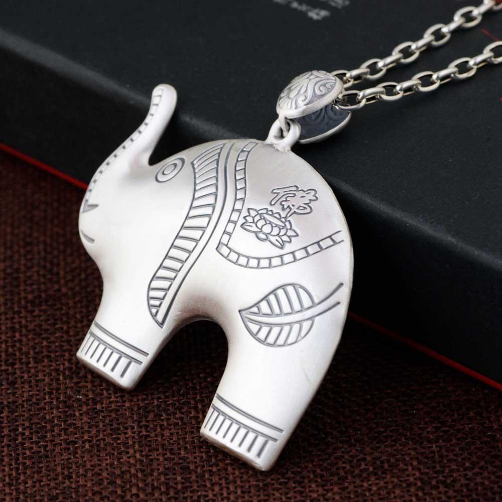FNJ 925 argent éléphant pendentif nouvelle mode Pure Original S990 Thai argent pendentifs femmes pour la fabrication de bijoux