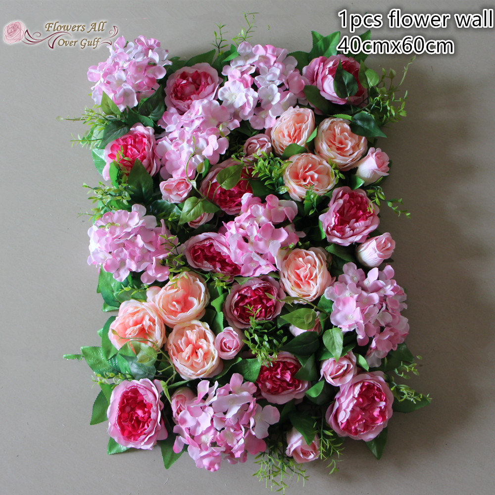 Flower All Over Gulf Artificial Flower Wall For Backdrop Wedding