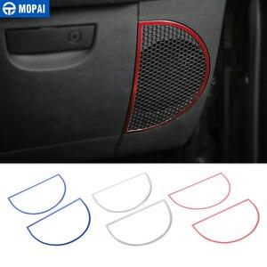 Image 1 - Anillo de decoración de altavoz para salpicadero de para coches MOPAI, pegatinas para Jeep Wrangler JK 2013 2018, accesorios de decoración para Interior de coche