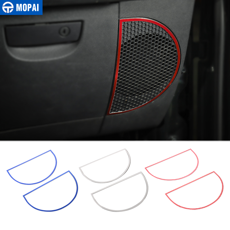 MOPAI Car Dashboard Audio Lound Speaker Decoration Ring Stickers for Jeep Wrangler JK 2007 2010 Interior Car Accessories Styling-in Interior Mouldings from Automobiles & Motorcycles