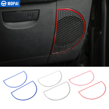 MOPAI Car Dashboard Audio Lound Speaker Decoration Ring Stickers for Jeep Wrangler JK 2007-2010 Interior Accessories Styling