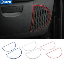 MOPAI ملصقات ديكور حلقة سماعات صوت لوحة القيادة لسيارات جيب رانجلر JK 2007 2010 اكسسوارات السيارات الداخلية