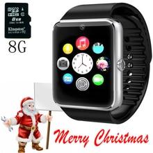Android smart watch gt08 reloj usable dispositivos con ranura para tarjeta sim push bluetooth del teléfono smartwatch dz09 para apple watch iphone