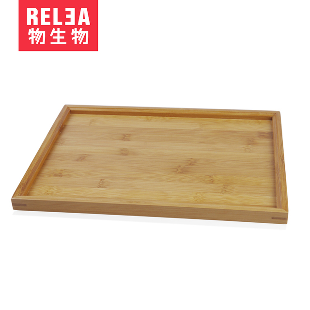 Bamboo Serving Tray Tea Coffee Table Hotel Gift Present Organic Flat